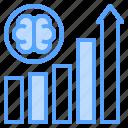 analysis, arrow, brain, data, graph, think