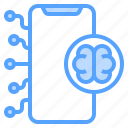 brain, concept, network, smartphone, thinking