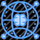 brain, global, network, thinking, worldwide