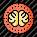 brain, goals, success, target, thinking