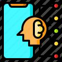 brain, human, network, smartphone, thinking