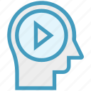 head, human head, media play, mind, player, thinking