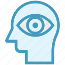 eye, head, human head, mind, thinking, view icon