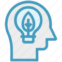 bulb, ecology, head, human head, mind, thinking