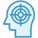focus, head, human head, mind, target, thinking