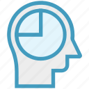 chart, graph, head, human head, mind, thinking icon