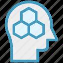 bees, head, honey, human head, mind, thinking