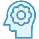 flower, head, human head, mind, nature, thinking icon