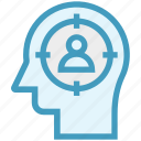 focus, head, human head, man target, mind, thinking