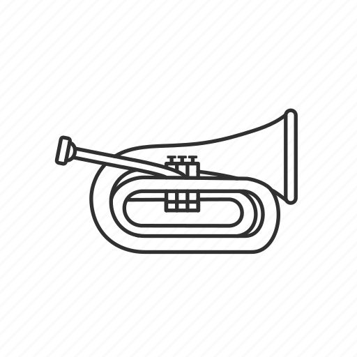 baritone, baritone horn, horn, instrument, music, musical instrument, orchestra icon