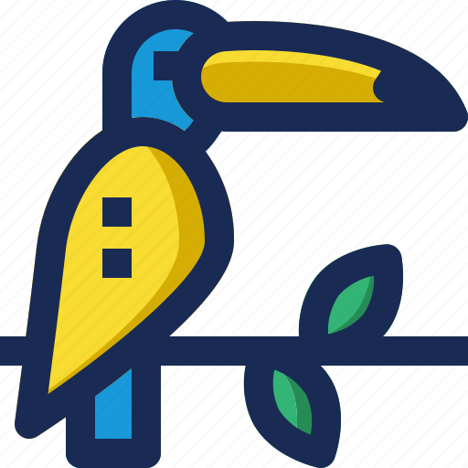 amazon, bird, brazil, exotic, toco, toucan, tropical icon