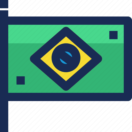 brazil, brazilian, country, flag, location, nation, national icon