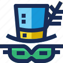 brazil, cap, carnival, costume, festival, mask, parade icon