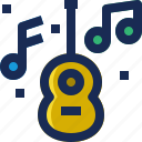 brazil, carnival, guitar, instrument, music, note, song icon