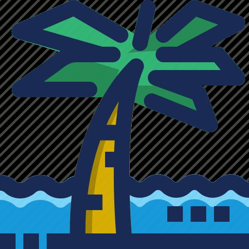 brazil, coconut, leaf, palm, plant, sea, tree icon