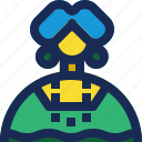 avatar, brazil, cloth, female, girl, traditional, woman icon