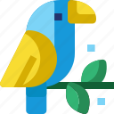 animal, bird, brazil, carnival, parrot, pet, zoo icon