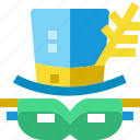 brazil, cap, carnival, costume, hat, mask, parade icon