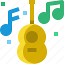 brazil, carnival, guitar, instrument, music, note, sound icon