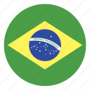 brazil, flag icon