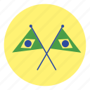 brazil, flag, flags icon