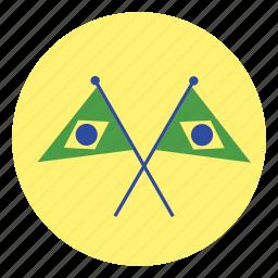 brazil, flag, flags icon