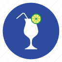 cup, drink, fruit, juice, lemon icon