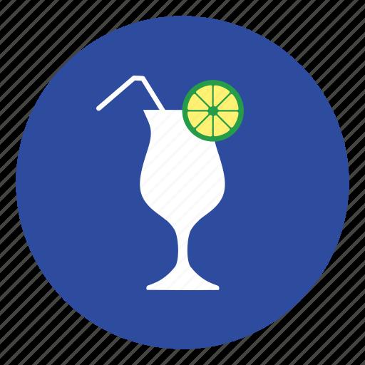 cup, drink, fruit, juice, lemon icon