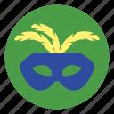 carnival, mask, masquerade icon