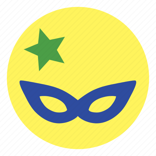 mask, star icon