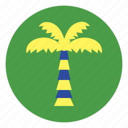 coconut, holiday, palm, plant, tree, vacation icon