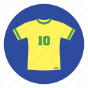 brazil, football clothes, shirt, tshirt icon