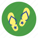 flip-flops, shoes, slipper icon