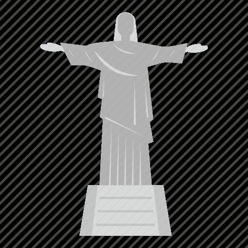 brazil, jesus, monument, religion, rio, statue, tourism icon