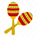 brazilian, instrument, maraca, mexican, music, musical, percussion icon
