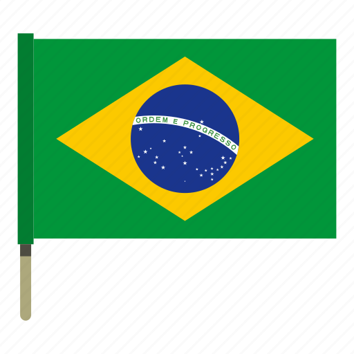 brazil, country, flag, nation, national, patriotism, wind icon