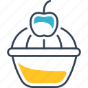 butterfly, cake, cherry, flour, product, sweetness icon