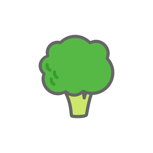 broccoli, cauliflower, food, vegetable icon