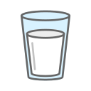 glass, drink, milk, glass of icon