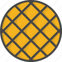 breakfast, filled, food, outline, waffle icon