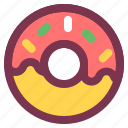 breakfast, dessert, doughnut, food, sweet icon