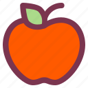 apple, breakfast, food, fruit, sweet icon