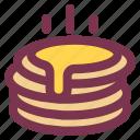 breakfast, food, pancake, sweet, toast icon