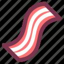 bacon, beef, breakfast, meal, meat