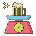 alcohol, brewery, by, weight icon