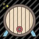 barrel, beer, brewery icon