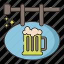beer, brewery, sign