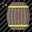 barrel, brewery, hogshead icon