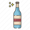 bottle, brewery, lager