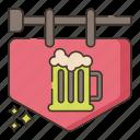 brewery, pub, sign